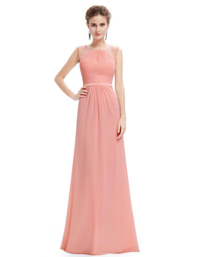 pudrové růžové společenské šaty šifonové - plesové šaty a94439db00